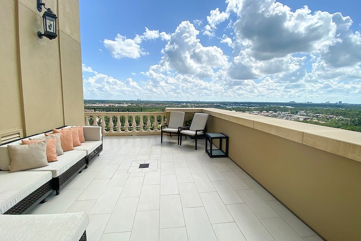 Presidential Suite Terrace with view of Epcot