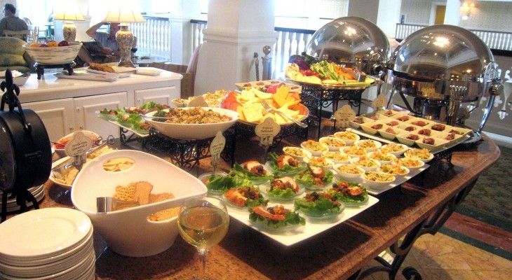 Royal Palm Club's evening appetizers