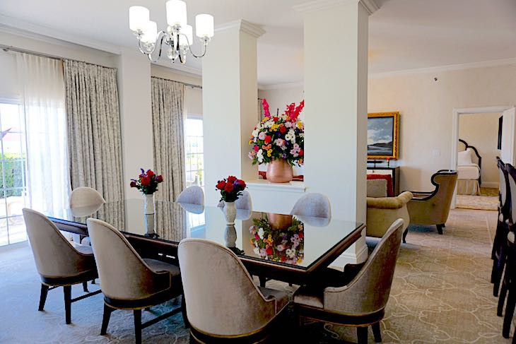 Two-bedroom Outer Building Hospitality Suite Dining