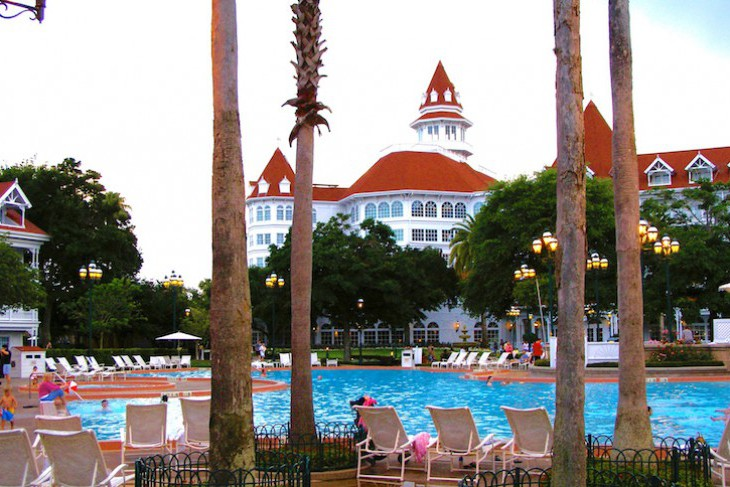 Grand Floridian's courtyard pool