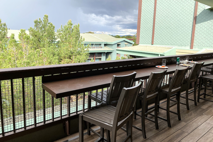 The Veranda Concierge lounge balcony seating