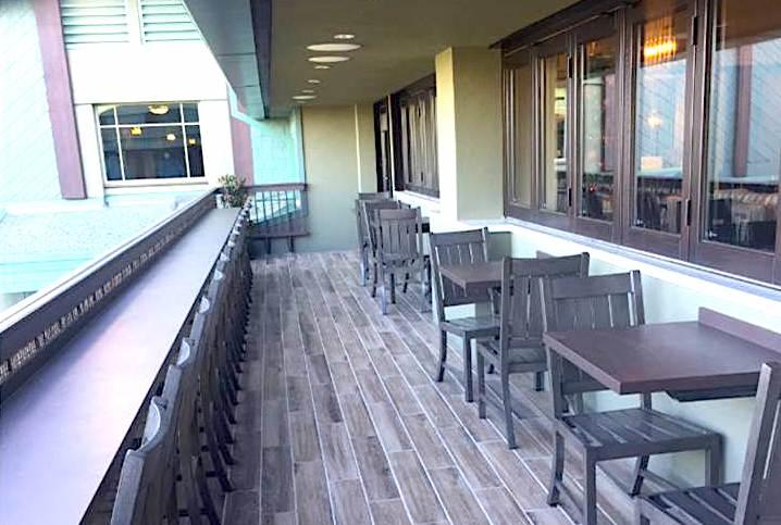 The Veranda Concierge Lounge balcony