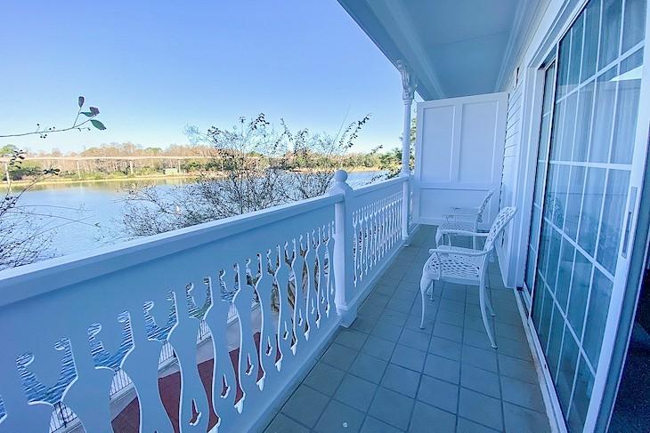 Standard guest room balcony