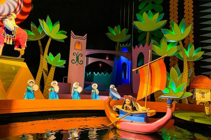 The iconic It's a Small World attraction