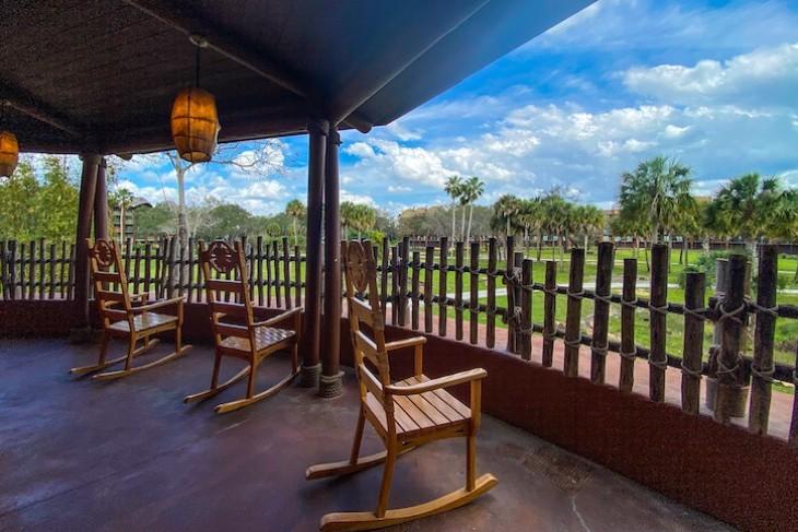 Relax in rockers overlooking the savanna