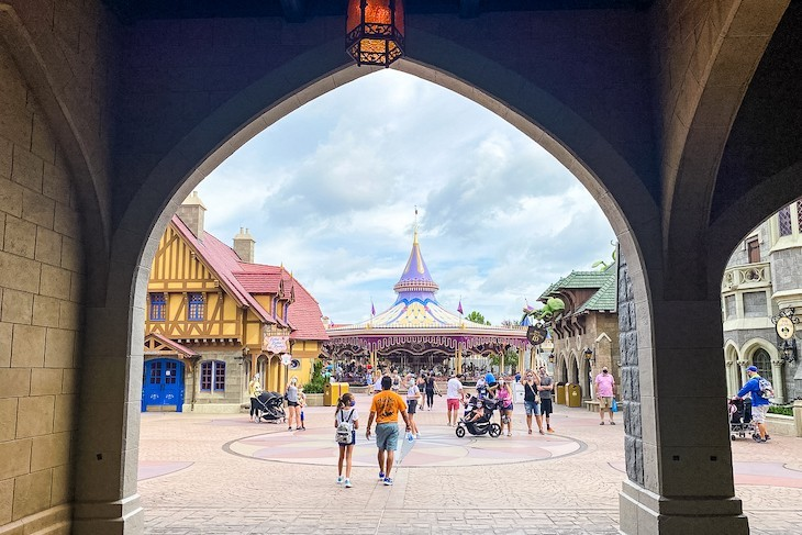 The view on entering Fantasyland from under Cinderella Castle. Love it!