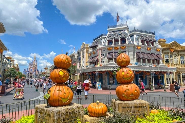 Pumpkins on Main Street U.S.A.