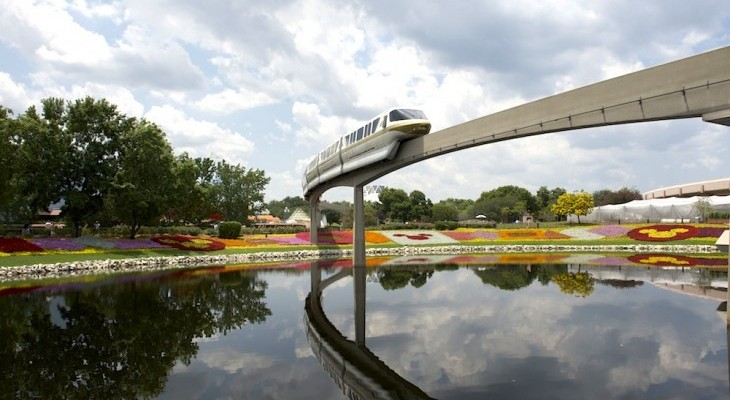 Monorail During the Epcot's Flower & Garden Festival