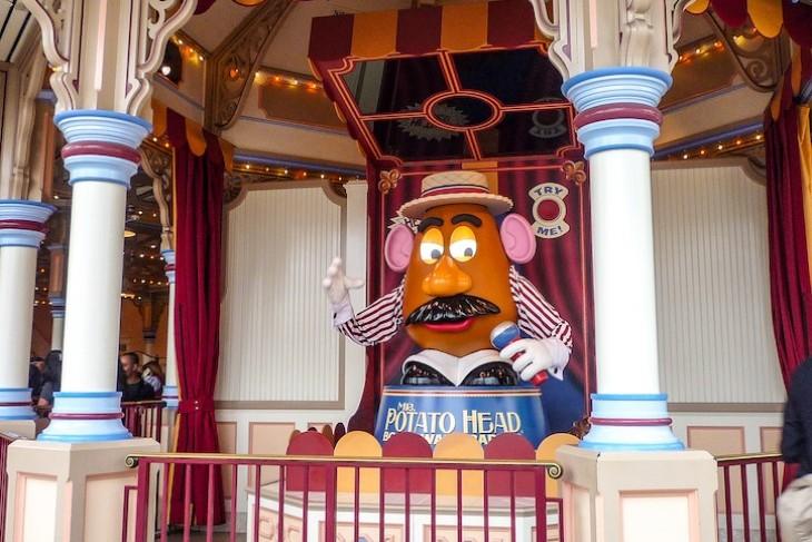 Toy Story Midway Mania's boardwalk barker