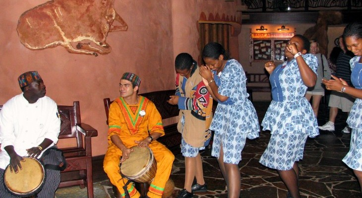 Performers at Boma