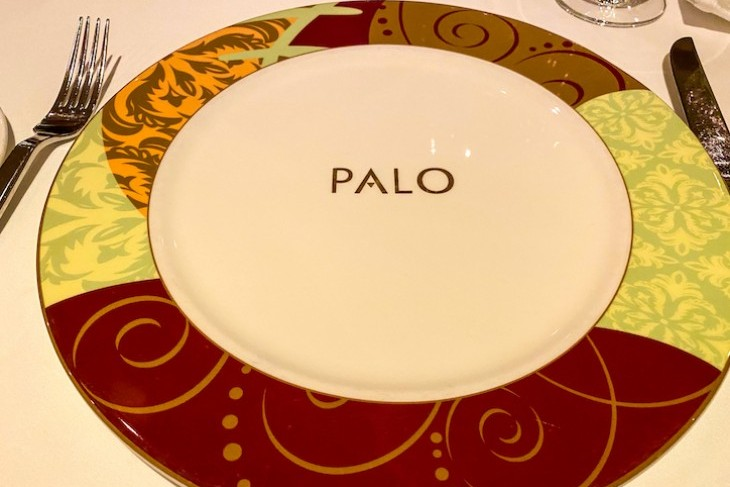 Welcoming place setting at Palo
