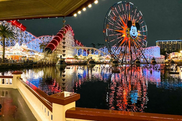 Pixar Pier from Lamplight Lounge