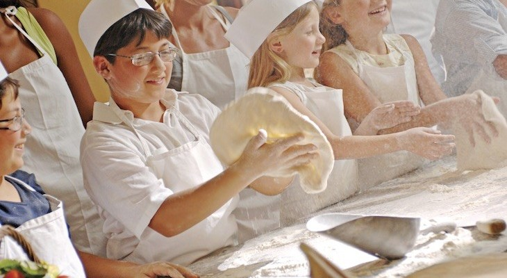 Pizza making in Italy
