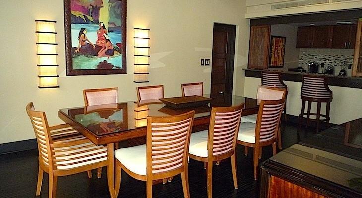 King Kamehameha Presidential Suite Dining Room
