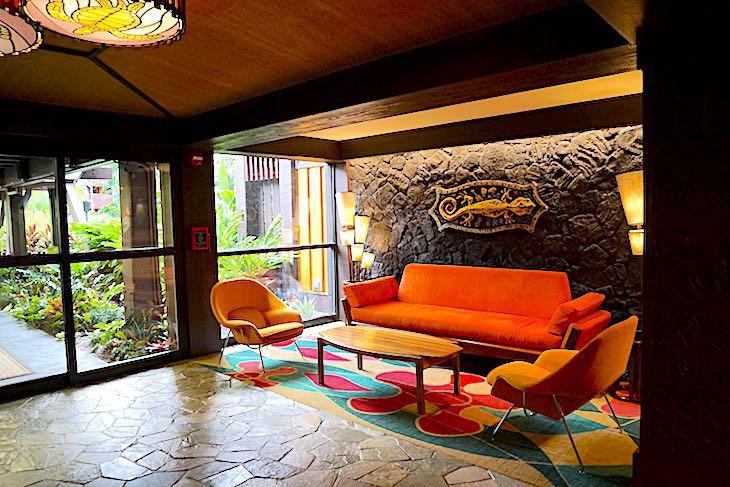 Polynesian Villas Studios lobby seating area