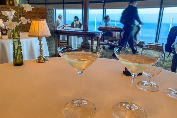 """Begin your meal with Remy's complimentary """"Collette"""" Champagne cocktail"""