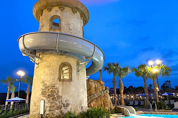 Riviera pool slide
