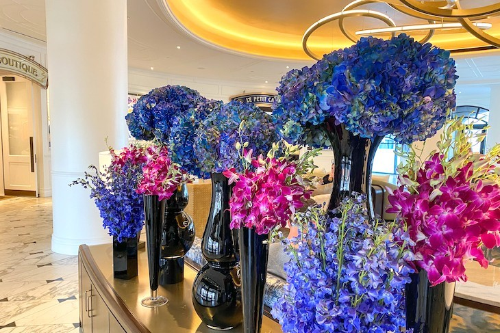 Lovely flowers greet you in the lobby