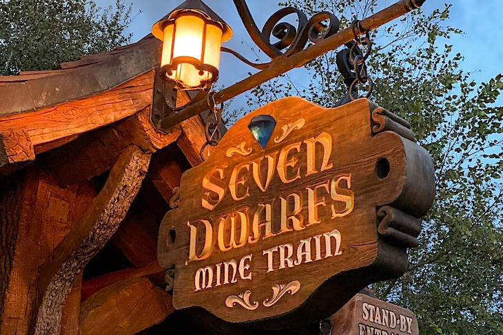 Seven Dwarfs Mine Train, the most popular place in Fantasyland
