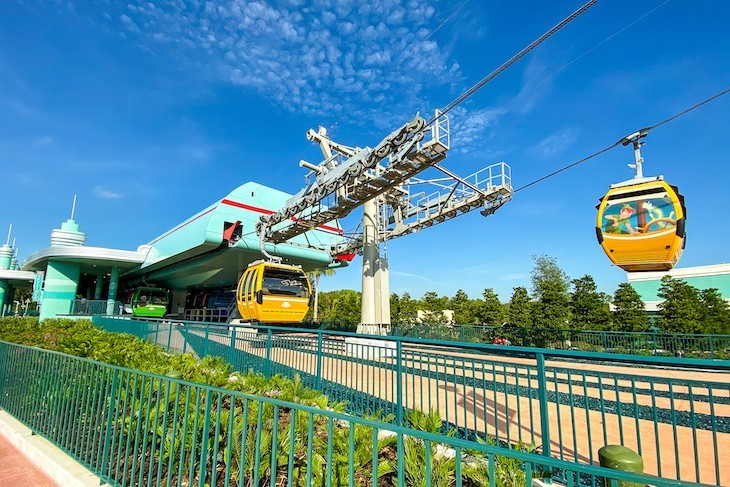 Disney's Skyliner is the newest mode of transportation to access Disney's Hollywood Studios