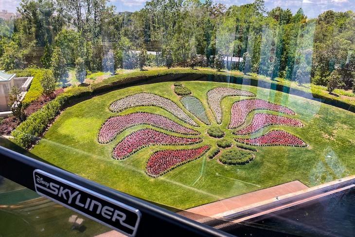 Soaring over Epcot on Disney's Skyliner