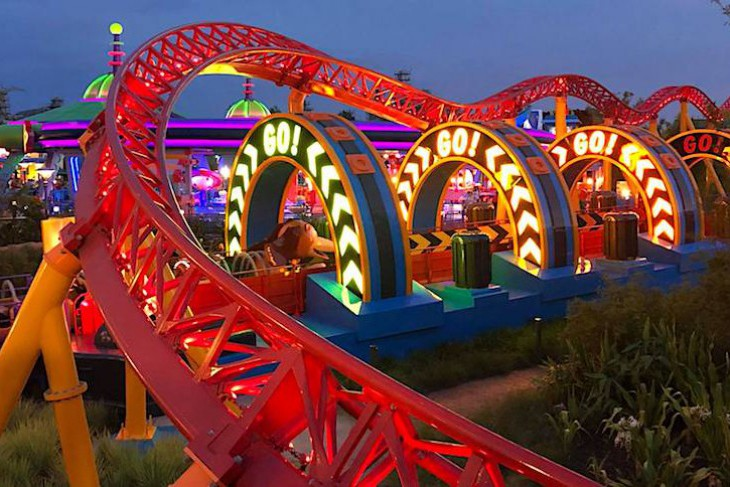Slinky Dog Dash-a nighttime ride is the best