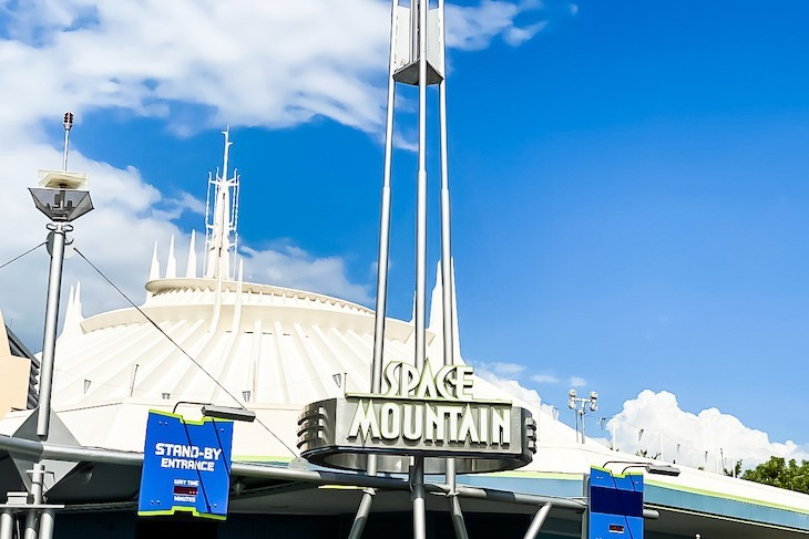 Space Mountain, one popular attraction