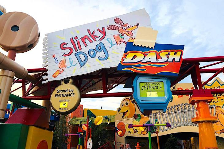 Slinky Dog Dash entrance