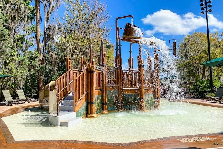 Splash play area