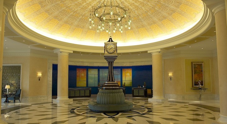 Waldorf Astoria lobby and iconic clock