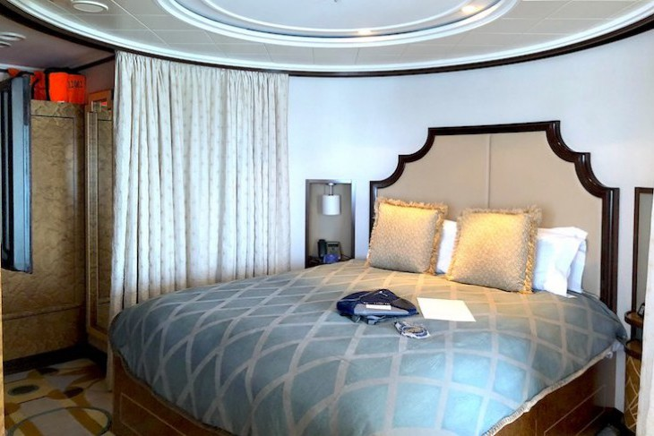 Disney Dream and Fantasy's Royal Suite Bedroom