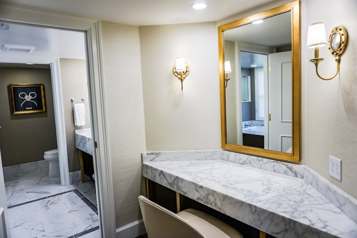 Captain Deck Suite's master bath vanity