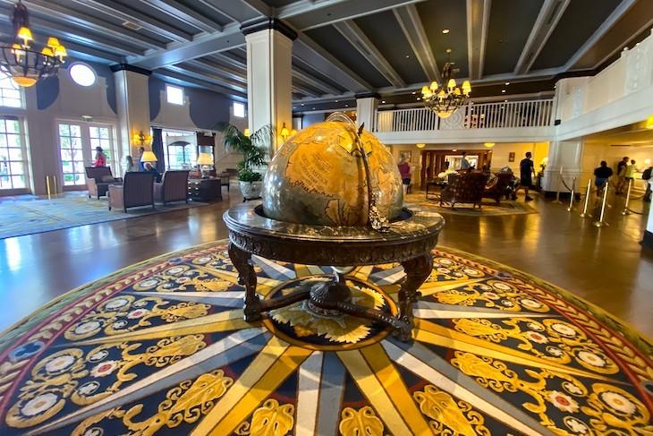 The resort's relaxing lobby