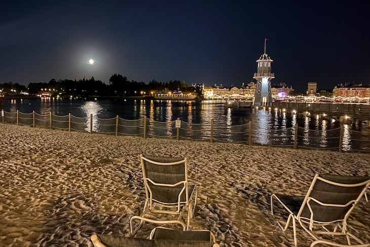 Moonlight over Crescent Lake