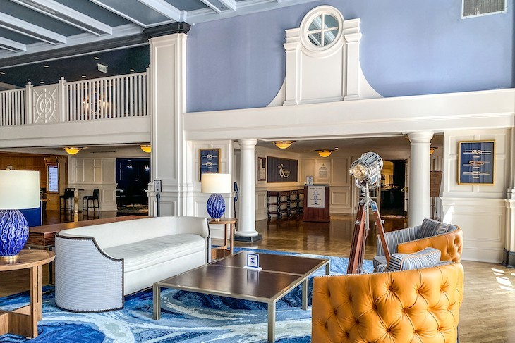 The Lobby with it's comfortable seating areas