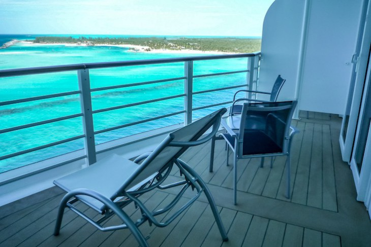 Disney Dream and Fantasy's One-bedroom Suite Verandah Deck 12