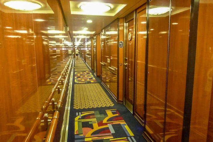 Disney Dream and Fantasy's One-bedroom Suite Concierge hallway